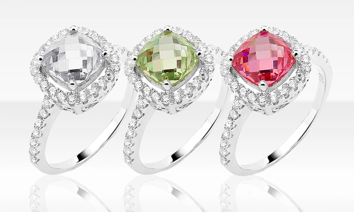Sterling Silver and Colored Cubic Zirconia Birthstone Rings: $14.99 for a Sterling Silver and CZ Birthstone Ring ($169.99 List Price). Multiple Colors. Free Shipping and Returns.