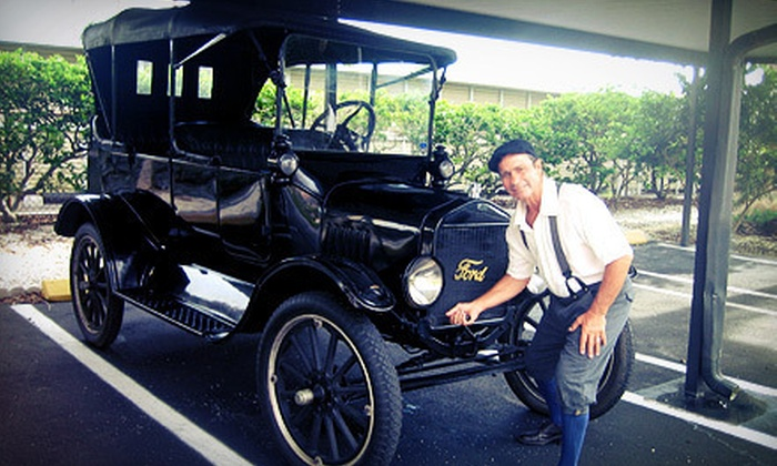 Gulfside Adventures - Clearwater: Tour of Clearwater Beach in 1918 Model T with Shepard's Buffet Lunch and Photo from Gulfside Adventures (Up to 57% Off)