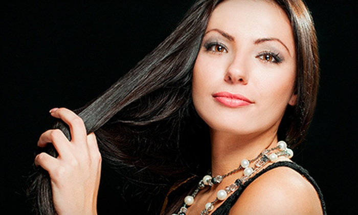Dolce' Vita Salon & Spa - McCandless: Global Keratin Hair-Smoothing Treatment with Optional All-Over Color at Dolce' Vita Salon & Spa (Up to 60% Off)