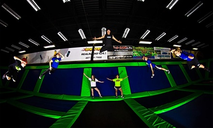 One Hour or Unlimited Jump Time for 2 or 4 with Pizza or Birthday for 15 at Rebounderz Orlando (Up to 46% Off)