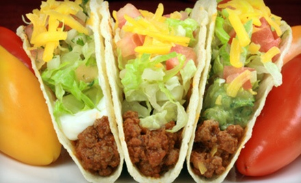 Mexican Cuisine or 52-Taco Party Tray from House of Tacos (Up to 51% Off). Three Options Available.