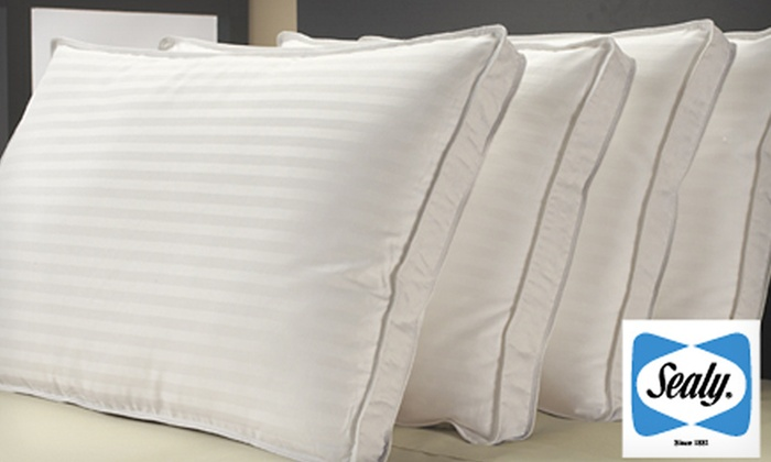 400-Thread-Count Sealy Cotton Pillows: $39 for Four Sealy 400-Thread-Count Supima Cotton Dobby-Stripe Pillows ($80 List Price)