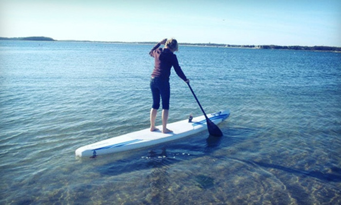Sailworld Cape Cod - Buzzards Bay: Two-Hour Standup-Paddleboard Lesson for One or Two from Sailworld Cape Cod in Buzzards Bay (56% Off)