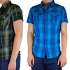StraightFaded Men's Short Sleeve Plaid Shirts