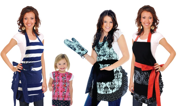 Flirty Aprons: C$15 for C$30 Worth of Aprons, Bibs, and Kitchen Gloves from Flirty Aprons
