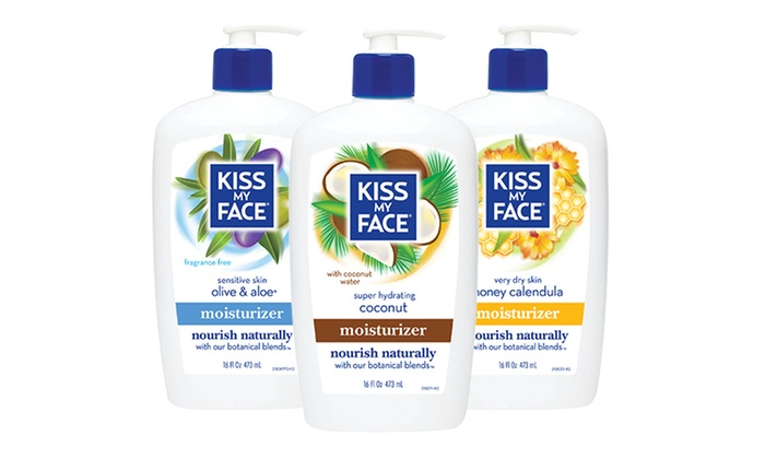 Kiss My Face Moisturizer (3-Pack): Kiss My Face Moisturizer; 3-Pack of 16 Fl. Oz. Bottles + 5% Back in Groupon Bucks