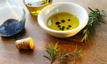 Bottle of Olive Oil and Two Tapi Spouts, or Tasting Event for Up to 12 at Paradiso Olive Oils & Vinegars (Up to 51% Off)