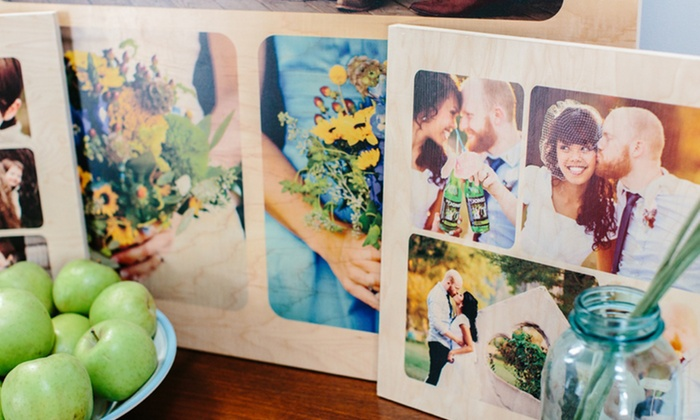 Custom Wooden Photo Collage Boards: Custom Wooden Photo Collage Boards. Multiple Options Available from $29.99—$49.99.
