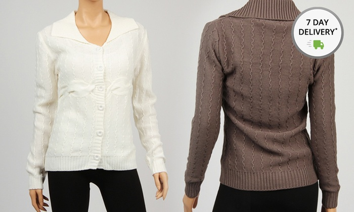 Women's Cable-Knit Cardigans: Women's Cable-Knit Cardigans. Multiple Colors Available. Free Shipping and Returns.