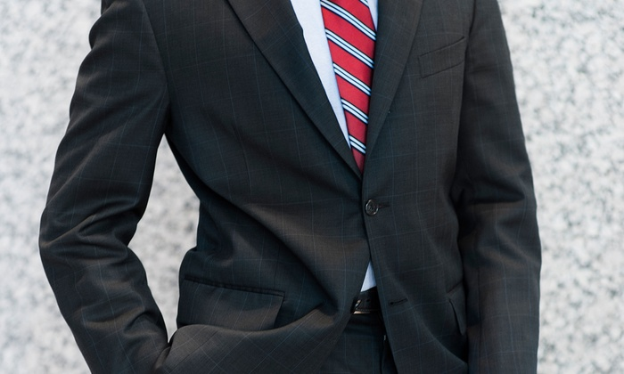Status Menswear - Atlanta: Men's Suits and Accessories at Status Menswear (Up to 55% Off). Three Options Available.