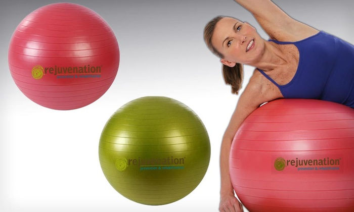 Rejuvenation Stability Exercise Balls: $21.99 for a Rejuvenation Stability Exercise Ball ($39.99 List Price). Two Sizes Available. Free Shipping and Returns.