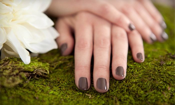 Unto Him Day Spa and Boutique - Lane-Wooster: Shellac Manicure or Manicure and Spa Pedicure at Unto Him Day Spa and Boutique (Up to 51% Off)
