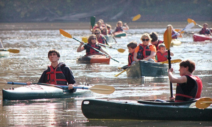 Toronto Adventures - Multiple Locations: Intro to Kayaking or Canoeing and Guided Two-Hour Humber or Rouge River Adventure from Toronto Adventures (Half Off)
