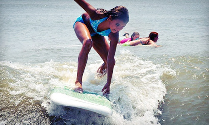 Saltwater Cowgirls - Jacksonville Beach: One-Hour Private Surfing Lesson for One or Two from Saltwater Cowgirls (Half Off)