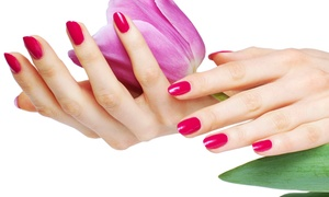 Natural Lashes and Face: One or Two Gel Manicures with Paraffin-Dip Treatments at Natural Lashes and Face (Up to 51% Off)