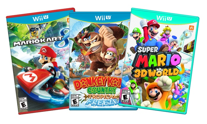 Mario or Donkey Kong Games for Wii U: Mario Kart 8, Super Mario 3D World, or Donkey Kong Country Tropical Freeze for Wii U from $49.99–$59.99