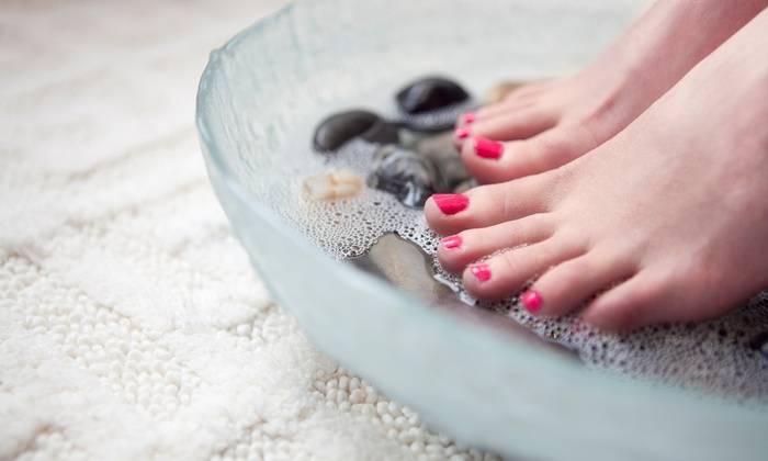 Creative Nails - Citrus Heights: One or Three Gel Manicures with Signature Pedicures at Creative Nails (Up to 58% Off)