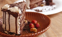 Cake and Ice-Cream with a Hot Drink for Two or Four at Flavourz Cafe (Up to 48% Off)