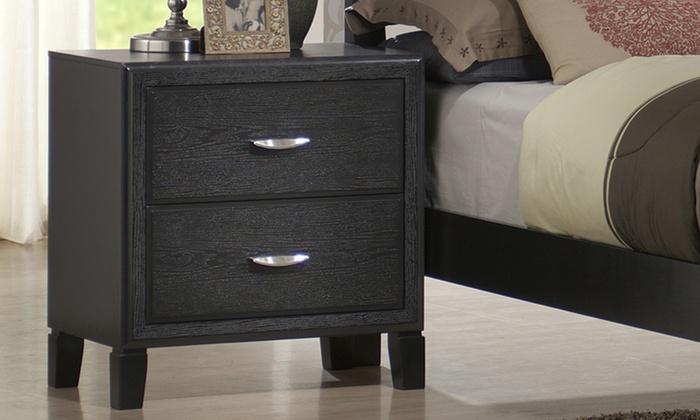Dark Wood Bedside Tables Groupon Goods