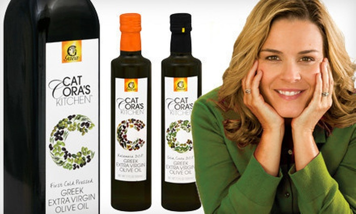 KeHE Distribution: $24 for a Cat Cora Olive-Oil Three-Piece Bundle ($39.85 list price)