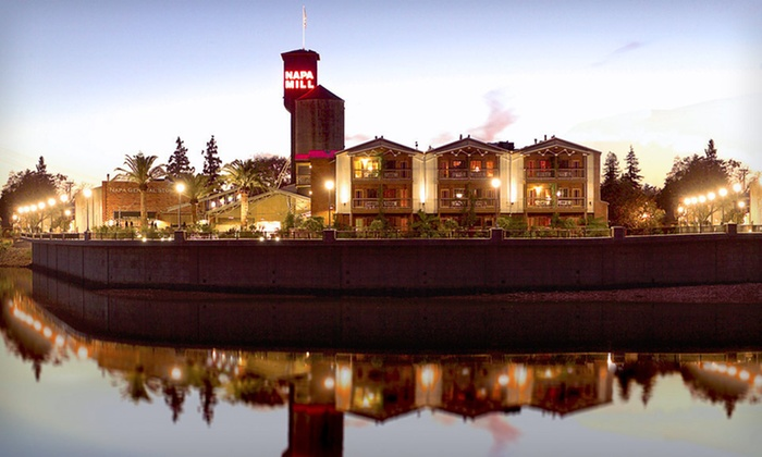 Napa River Inn - Cental Napa: One-Night Stay with a Bottle of Wine and Two Wine-Tasting Passes at Napa River Inn in Napa, CA