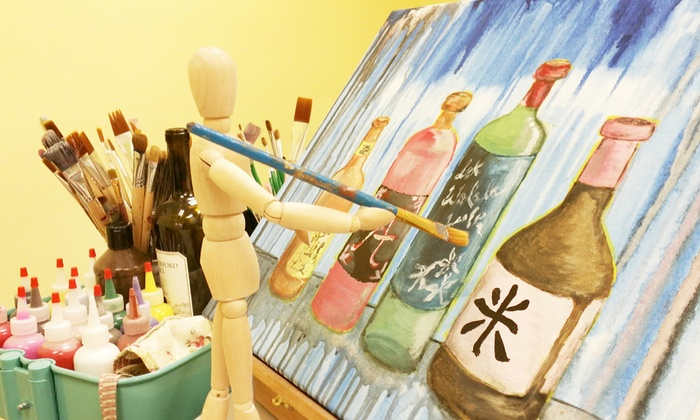 LK Art Gallery - Bridgeport: BYOB Painting Class for One, Two, or Four People at LK Art Gallery (Up to 53% Off)