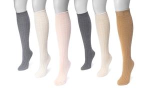 Muk Luks Women's Cable Knee-High Socks (3 Pairs)