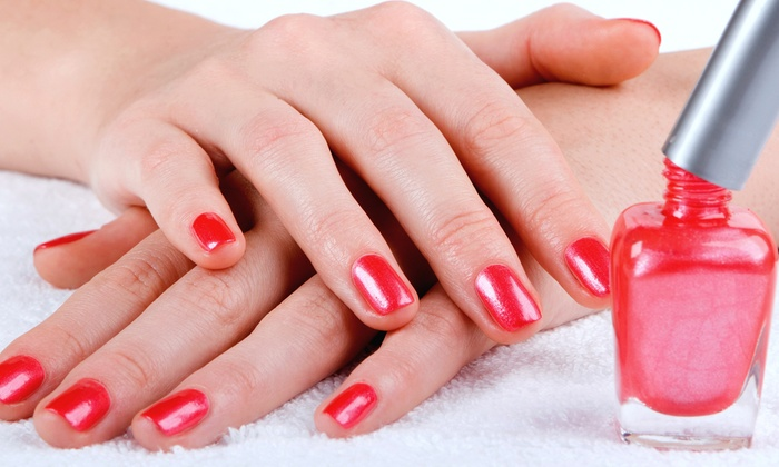GoldStar Hair Designs - Ocala: One or Two No-Chip Manicures or Acrylics with a Fill or Rockstar Glitter Tips at GoldStar Hair Designs (Up to 52% Off)