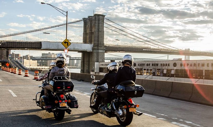 NYC Motorcycle Tours - New York City: Motorcycle Sightseeing Tour for One or Two from NYC Motorcycle Tours (Up to 54% Off)