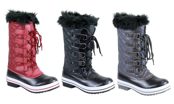 Mata Women's Comfort Winter Fur Snow Boots