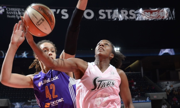 San Antonio Silver Stars - AT&T Center: San Antonio Stars WNBA Game at AT&T Center on August 1 or 15 (Up to 68% Off). Three Seating Options Available.