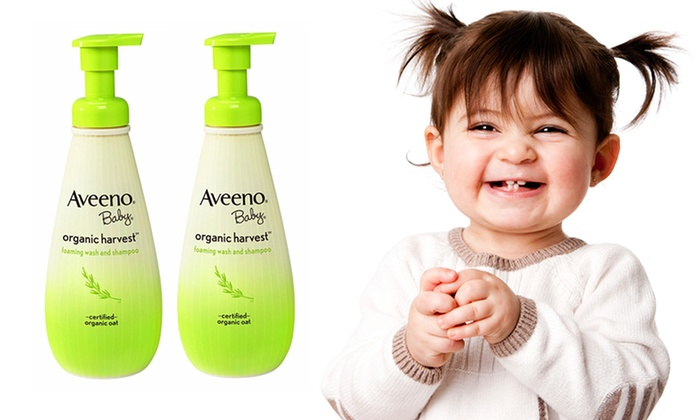 Aveeno Baby Organic Harvest Wash and Shampoo: Two-Pack of Aveeno Baby Organic Harvest Wash and Shampoo