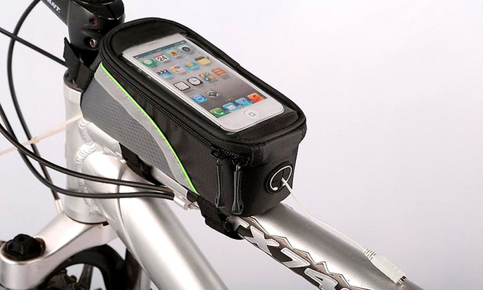 iPhone or Samsung Phone Pouch with Headphone Hole for Bicycles
