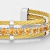 GenuineGemstone Bangle Bracelets in Sterling Silver