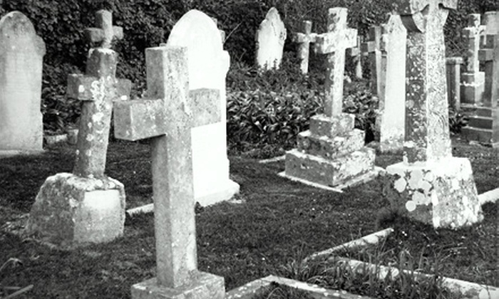 Ghostly Tours in History - Old Town: Two-Hour Graveyards Bus Tour for Two or Four from Ghostly Tours in History (Up to 51% Off)