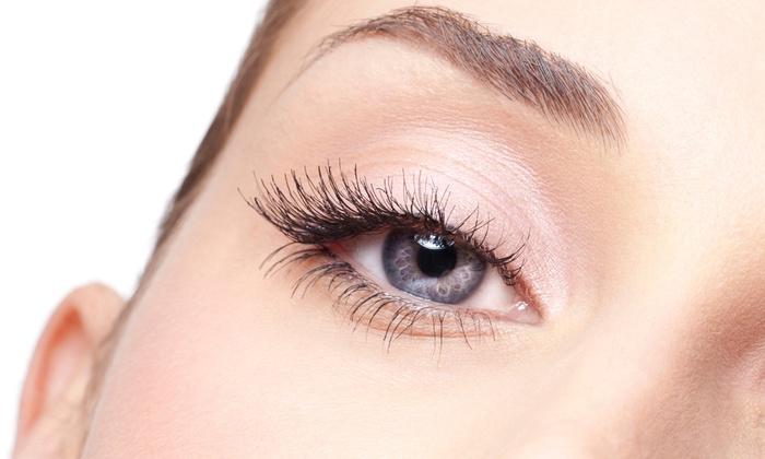 Lady Eyelash Extensions - Flushing: Sweet Lady or Glam Lady Eyelash Extensions at Lady Eyelash Extensions (50% Off)