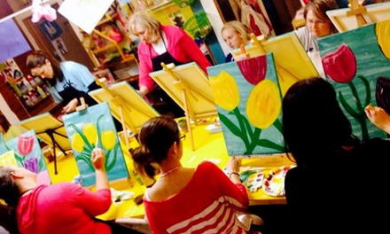 Adult or Child Canvas-Painting Classes at The Bee's Knees Art Studio & Party Place (Up to 52% Off). Five Options.