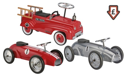 Classic Ride on Firefighter and Classic Hot-Rod Racing Car With Free Delivery