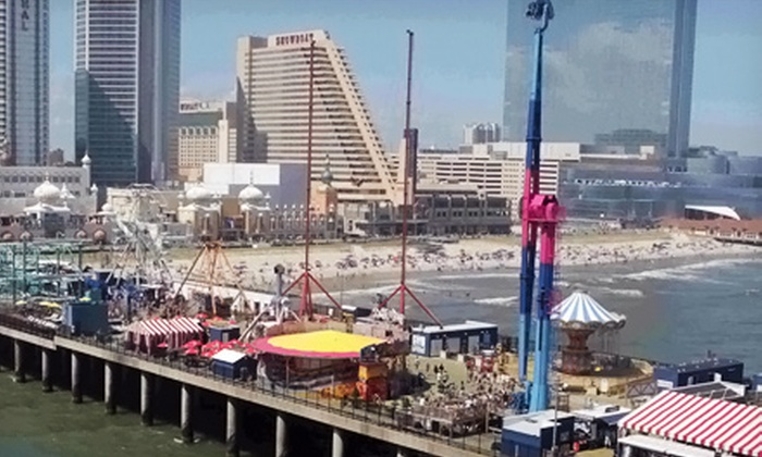 Steel Pier - Steel Pier Amusements: Ride for Two on The Mix, The Sling Shot, or Both at Steel Pier in Atlantic City (Up to 52% Off)
