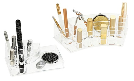 Acrylic Cosmetics Organizers. Two Sizes Available. Free Returns.