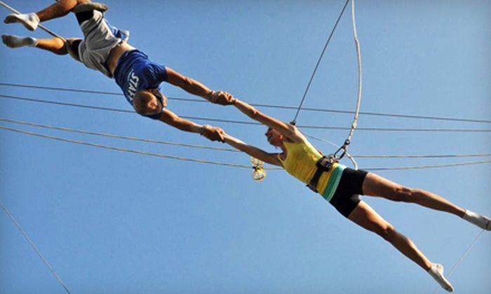 Trapeze School New York in Chicago - Multiple Locations: Indoor or Outdoor Class for One, or Party for Up to 15 at Trapeze School New York in Chicago (Up to 55% Off)