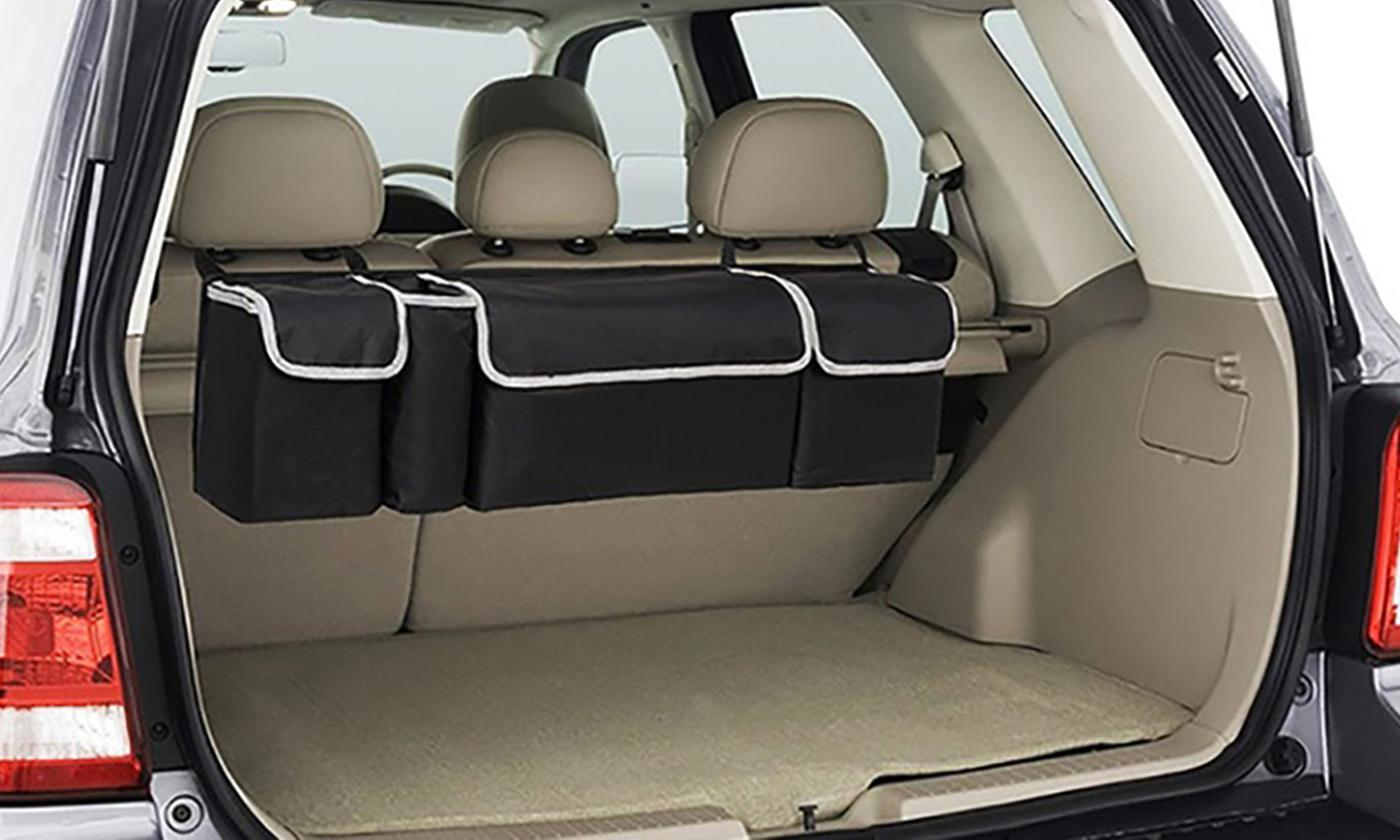 One or Two Car Back Seat Storage Bags