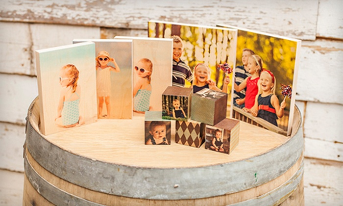PhotoBarn: Five Custom PhotoBlocks or Two or Three Custom PhotoBoards from PhotoBarn (Up to 56% Off)