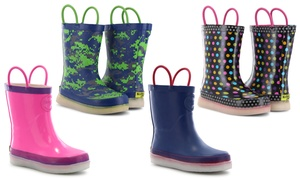 1391d8467994f Western Chief Kid's LED Multi-Color Light-Up Rain Boots