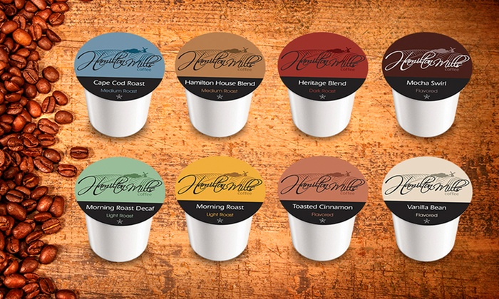 40 Hamilton Mills Single-Serve Coffee Cartridges: $23.99 for a 40-Pack Sampler of Hamilton Mills Coffee Cartridges ($25.60 List Price). Free Shipping.