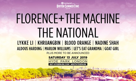 Barclaycard presents British Summer Time – Florence + the Machine and The National, 13 July at Hyde Park (London)