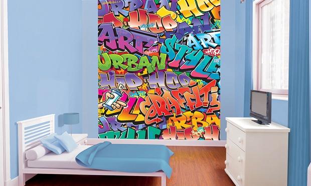 Kids 39 walltastic wallpaper mural groupon goods for Bob the builder wall mural