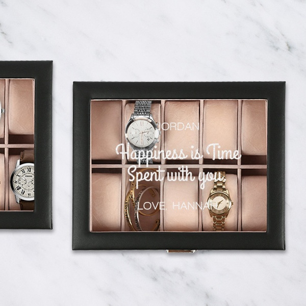 Up To 42 Off Personalized Watch Boxes Accessory Cases And Jewelry Storage Valets From Monogram Online
