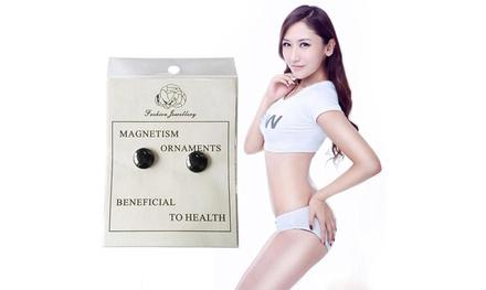 Fino a 3 paia di orecchini magnetici terapeutici, per stimolare il flusso sanguigno e il metabolismo