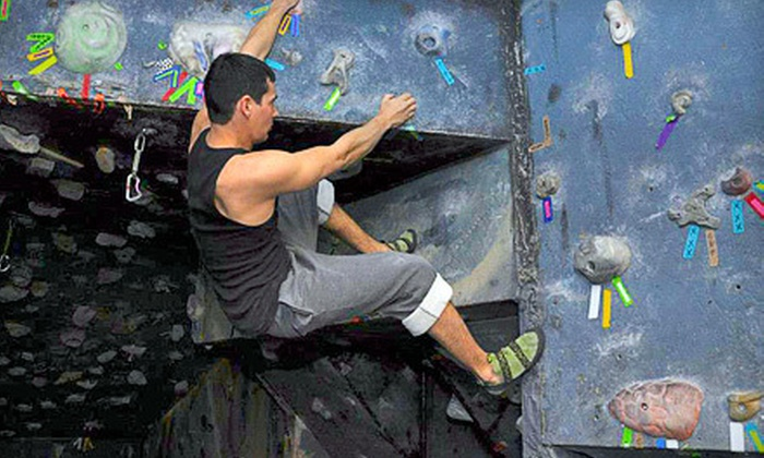 The Bouldering Garden - Third Ward: Couples Rock Climbing Class with Return Visit or Climbing Class for Two at The Bouldering Garden (Up to 63% Off)